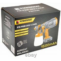 1500 mAh Paint Sprayer Cordless Electric 20V Spray Gun Paint Fence Airles HVLP