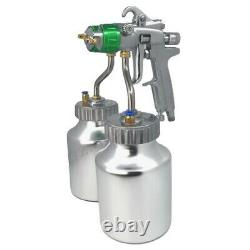 1.3mm spray gun paint chrome painting dual head Air pneumatic pressure sprayer