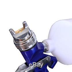1.4/0.8mm Nozzle Paint Base Primer HVLP 2-Spray Guns Set Gauge Auto Gravity Feed