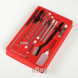 23Pc Air Tool Paint Spray Gun Cleaning Kit HVLP Gravity Airbrush Case Wire Brush
