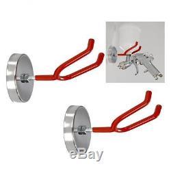 2x MAGNETIC HVLP GRAVITY SPRAY GUN HOLDER HOLDERS HOOK 3 LB 2 STEEL HOOK NEW