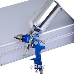 3 HVLP Air Spray Gun Kit Auto Paint Car Primer Detail Basecoat Clearcoat Superb