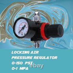 3 HVLP Air Spray Gun Kit Auto Paint Car Primer Detail Basecoat Clearcoat withCase