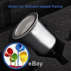 3 pcs HVLP Air Spray Guns Kit Auto Paint Car Primer Basecoat Clearcoat with Case