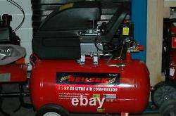 50 litre 2.0hp 230v electric compressor & HVLP Spraygun and hose new and boxed