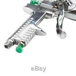 600CC HVLP Spray Gun Auto Car Paint Gravity Feed Gauge Flake Primer Nozzle 600L