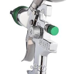 8 PCS 2.5mm HVLP Gravity Spray Gun Kit with Auto Paint Primer Metal Flake