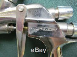 ANEST IWATA PININFARINA LS400 HVLP SPRAY GUN w ADJ SATA INLET GAUGE NO CUP