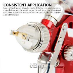 Air Spray Gun HVLP 1.4MM Auto Car Touch Up Paint Sprayer Repair Kit Flake Nozzle