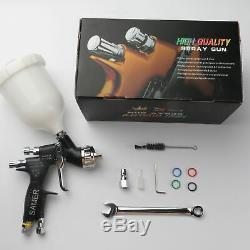 Air Spray Gun HVLP Gravity Feed 1.3mm Tip 600CC Paint Cup Gti Pro TE20 Lite