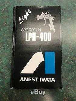 Anest Iwata 5640 Gravity Feed HVLP Spray Gun LPH400LV-134LV 1.3 Tip