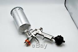 Anest Iwata LPH-400 LVX HVLP Basecoat Paint Gun 1000cc Cup & DeVilbiss Filter