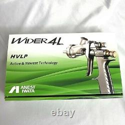 Anest Iwata WIDER4L-V13J2 1.3mm successor LPH-400-134LV HVLP spray gun no Cup