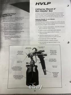 CAPspray Maxum II HVLP Non-bleeder Spray gun with BINKS gun cup
