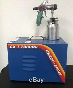 CX7 Turbine Graco Croix HVLP Auto Spray Paint System CX-7 + Graco spray gun