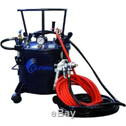 California Air Tools 1/4-Inch 5-Gallon Pressure Pot with HVLP Spray Gun Hose