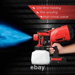 Cordless Hvlp Electric Spray Gun Paint Sprayer High Pressure Power Tool +battery