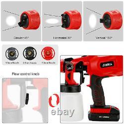 Cordless Paint Sprayer Electric HVLP Cordless Spray Gun Hand Held Fence Sprayer
