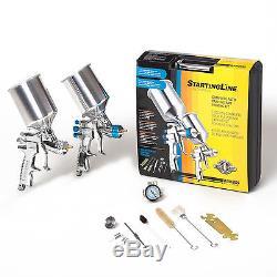 DEVILBISS Startingline Kit 2 HVLP SPRAY GUNS Auto Paint Basecoat Priming Primer