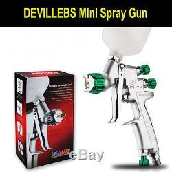 DEVILLEBS MINI Spray Gun SRi Professional 1.2mm Gravity Feed HVLP Paint Sprayer