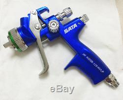 Dark blue 4000 HVLP WITH CUP Paint Spray Gun Gravity 1.3mm New in box 1set Blue