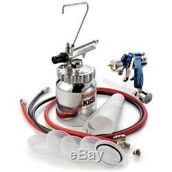 DeVILBISS FinishLine 4 Pressure Feed HVLP Paint Spray Gun & 2 Quart Cup Pot Kit