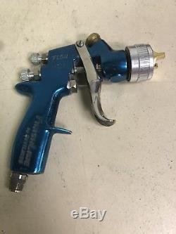 DeVILBISS Finishline FLG-4 HVLP Primer Gun Used Free Shipping Blue
