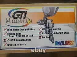 DeVILBISS GTI-620G HVLP AUTO PAINT SPRAY GUN 1.3 1.4 1.5 Tips and regulater