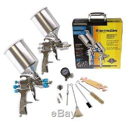 DeVilbiss 802343 HVLP Paint Gun Kit for Primer, Color, & Clear Coat Application