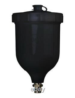 DeVilbiss DV1 HVLP 1.1mm B PLUS Gravity Feed Spray Gun Basecoat B+ Air Cap Withcup