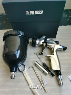 DeVilbiss DV1 HVLP 1.3mm B plus spray gun complete with black cup 600ml CV1new