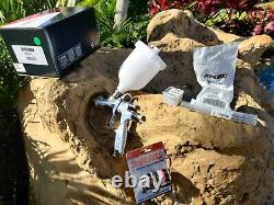 DeVilbiss FLG-693 1.3, 1.4, 1.8 Paint Spray Gravity HVLP Spray Gun Spraygun