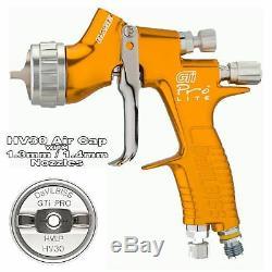 DeVilbiss GTi ProLite GOLD HV30 HVLP Waterbase Basecoat Spray Gun 1.3/1.4mm Tip