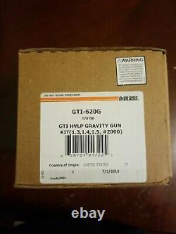 Devilbiss 170156 (GTI-620G) GTI HVLP gravity gun kit (1.3, 1.4, 1.5, #2000)