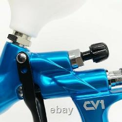 Devilbiss CV1 HVLP Spray Gun Blue 1.2mm Nozzle Car Paint Tool Pistol