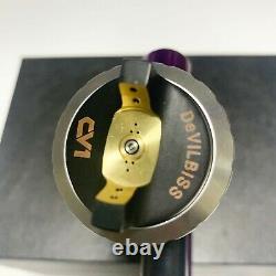 Devilbiss CV1 HVLP Spray Gun Purple 1.3mm Nozzle Car Paint Tool Pistol