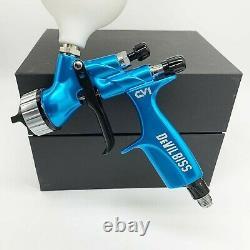 Devilbiss HVLP Spray Gun Blue CV1 1.3mm Nozzle Car Paint Tool Pistol