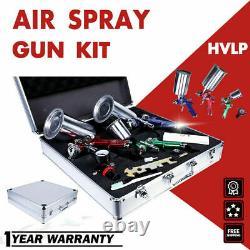 ETOSHA 3 HVLP Air Spray Gun Kit Auto Paint Car Primer Detail Basecoat Clearcoat