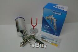 EURO 2214 1.4 mm HVLP SPRAY GUN & MAGNETIC WALL GUN HOLDER AUTO PAINT AUTO BODY
