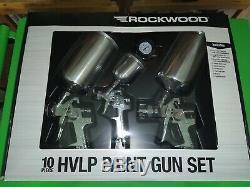 Eastwood Rockwood 10 Piece HVLP Paint Gun Set