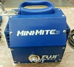 Fuji Spray Mini-Mite 3 HVLP Turbine Paint Sprayer Hose Gravity Gun Lot Kit