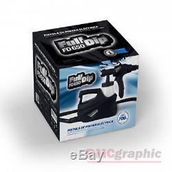 Full Dip Electric HVLP Paint Spray Gun Sprayer Kit for Plasti Dip Liquid Vinyl