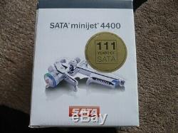Genuine Sata minijet 4400 B HVLP Gun with1.4sr, with Reusable Plastic Cup, (satajet)