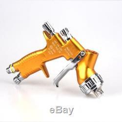 HVLP Paint Spray Gun Gold Acrylic Latex Epoxy Texture Indoor Outdoor Air 1.3mm