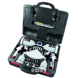 Husky HVLP Standard Air Compressor Paint Sprayer Gravity Feed Spray Gun Kit Set