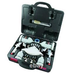 Husky HVLP and Standard Gravity Feed Spray Gun Kit Adjustable Spray Width 1.35Ib