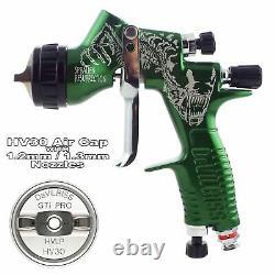 Limited Edition DeVilbiss GTi ProLite Green HV30 Air Cap Spray Gun 1.2/1.3mm Tip