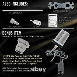 Master Pro 22 HVLP Touch Up Spray Gun, 1.0mm Tip, Air Pressure Regulator, Detail
