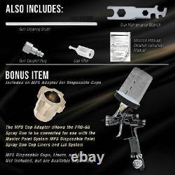 Master Pro 88 HVLP Touch Up Spray Gun, 1.3mm Tip, Air Pressure Regulator, Detail