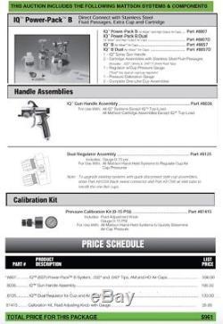 Mattson Atom-Miser IQ 88 Automotive HVLP Professional Paint Spray System 2 Guns